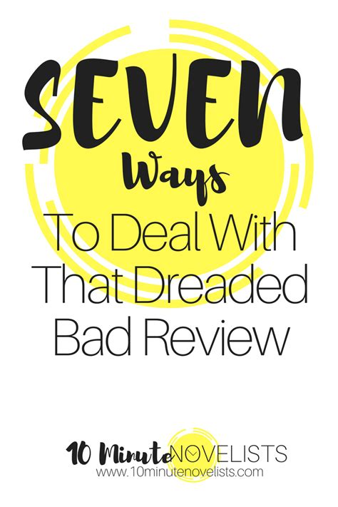 7 Ways To Deal With A Bad Day 7 ways to deal with that dreaded bad review