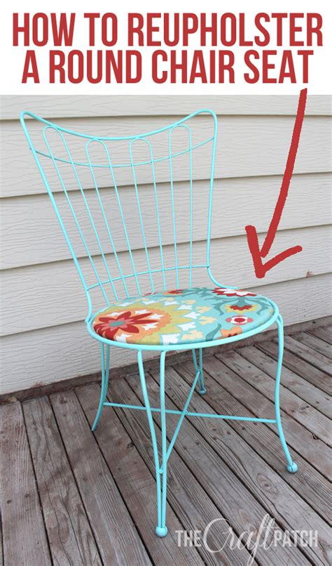 How To Reupholster A Chair Seat the craft patch how to reupholster a chair seat