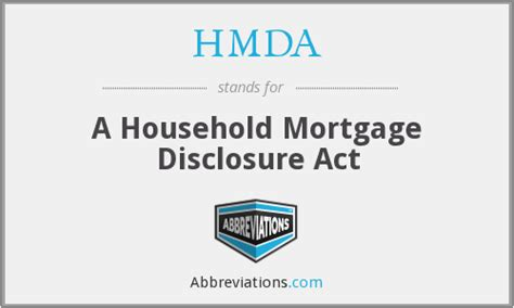hmda a household mortgage disclosure act