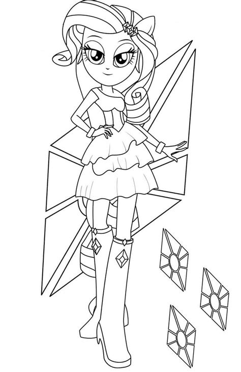 Rarity In Equestria Girls Coloring Page - Free Printable