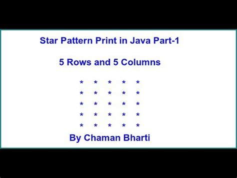 star pattern in java exle java interview program star pattern print in java part 1