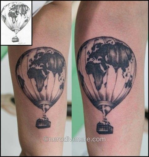 tattoo old school mongolfiera tattoo tatuaggio mongolfiera hot air balloon mondo