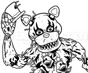 Step 13 how to draw nightmare freddy fazbear