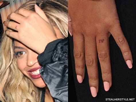 beyonc 233 roman numeral knuckle tattoo steal her style