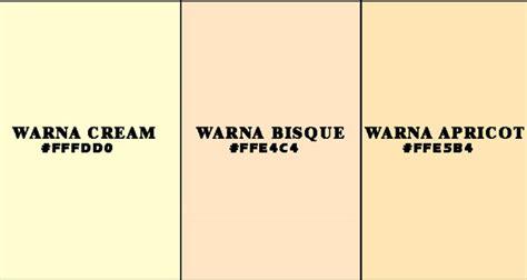 Warna Kulit Atau Krem pengertian warna dan contohnya grafis media