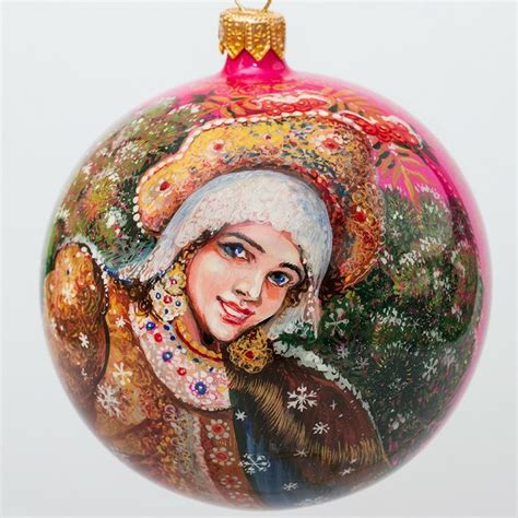 1000 images about hand painted christmas ornament palekh