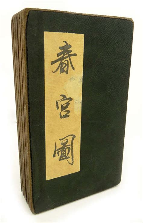 Pillow Book by 20th Century Japanese Shunga Pillow Book Modernism