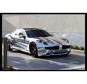 Fisker Car On Justin Bieber's Chrome Electric –
