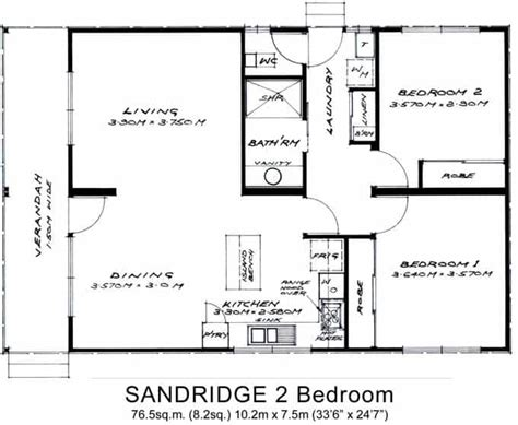two bedroom granny flat floor plans 2 bed granny flats small willow grove