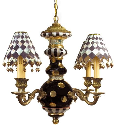 Eclectic Chandelier Lighting Black Tie Chandelier Mackenzie Childs Eclectic Chandeliers Other By Mackenzie Childs