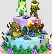 Princess and Frog Birthday Cake