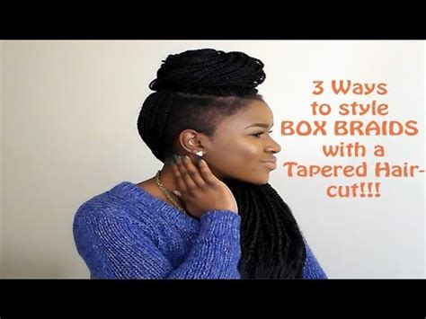 how to cut a natural box cut how to style box braids with a tapered haircut mona b