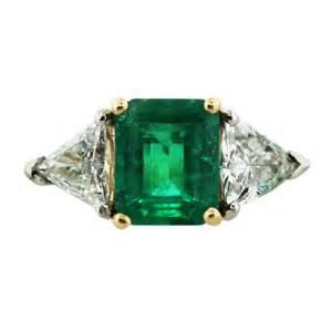 18k yellow gold emerald cut emerald diamond ring jpg