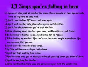 Signs you are falling in love memes