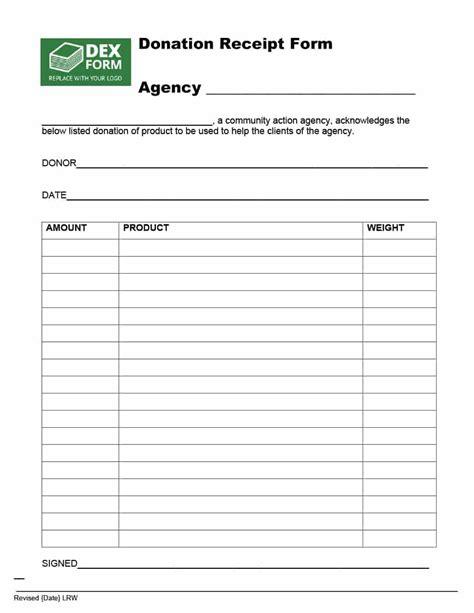 6 tax donation receipt template return receipt form