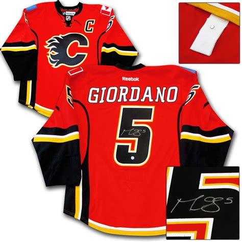 Giordano 160604 Authentic Id Authentic Id giordano autographed calgary flames authentic pro jersey nhl auctions
