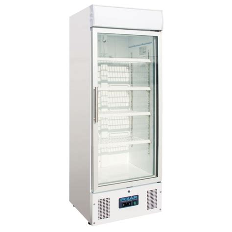 Cold Display Cabinets Food by Polar Upright Display Cabinet 218ltr White Food Cold
