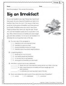 comprehension skills short passages for close reading grade 5