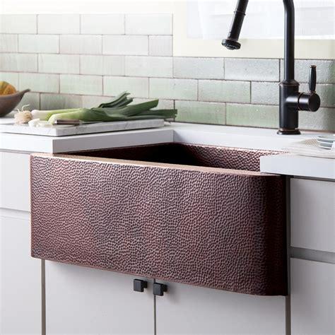 33 inch copper farmhouse sink farmhouse 33 copper apront front kitchen sink trails