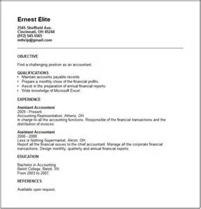 Resume example for high accounting manager level with previous job