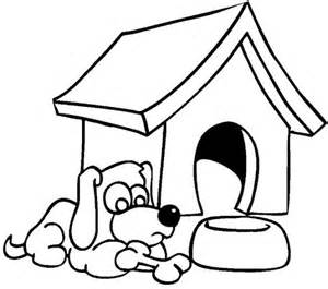 Dog House Coloring Pages For Kids sketch template