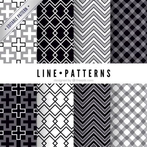 pattern lines eps line patterns pack vector free download