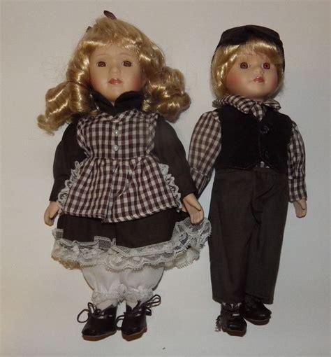 porcelain doll boy wyndham heidi and eric porcelain doll set colletibles