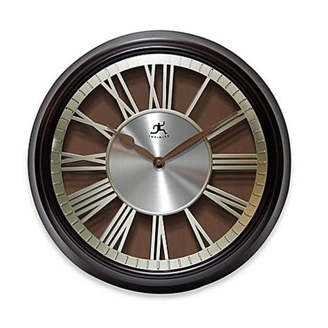 bed bath and beyond clocks infinity instruments pantheon wall clock bed bath beyond