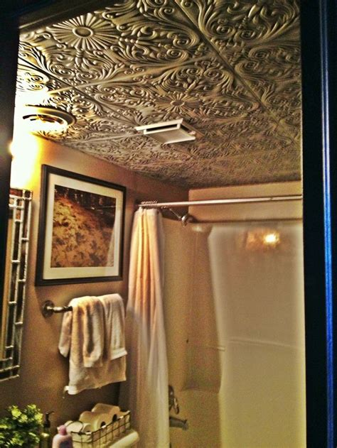 tin ceiling in bathroom faux tin ceiling in bathroom of loft tin tiles pinterest