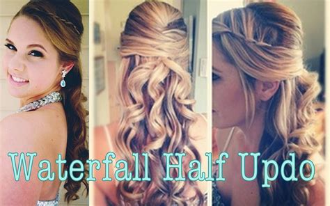 half up half down prom hairstyles youtube prom hairstyles for long hair half up half down immodell net