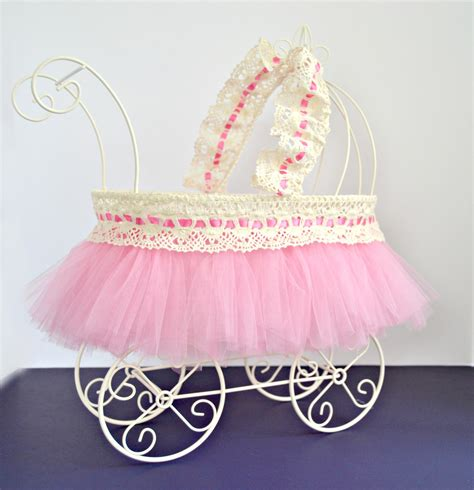 Baby Carriage Baby Shower Centerpiece Ivory Wire Baby Pram Wire Baby Stroller Centerpieces