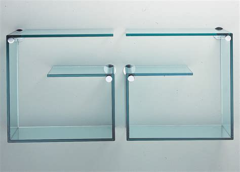 Decorating Your Hallway Tonelli Alfabeta Pair Of Glass Wall Shelves Shelving