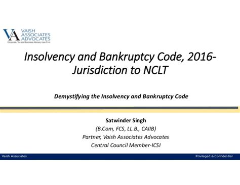 bankruptcy code section 101 insolvency and bankruptcy code 2016 jurisdiction to nclt