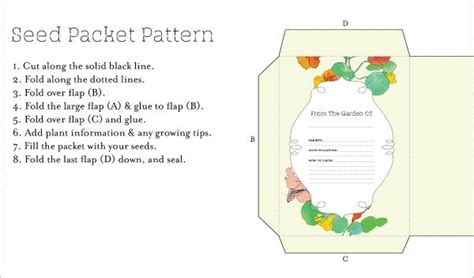seed packet template how to make your own seed packet with a free printable