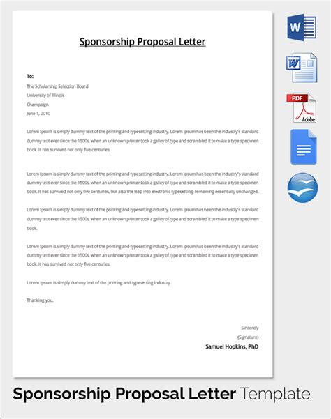 Marketing Sponsorship Template Sle Sponsorship Template 19 Documents In