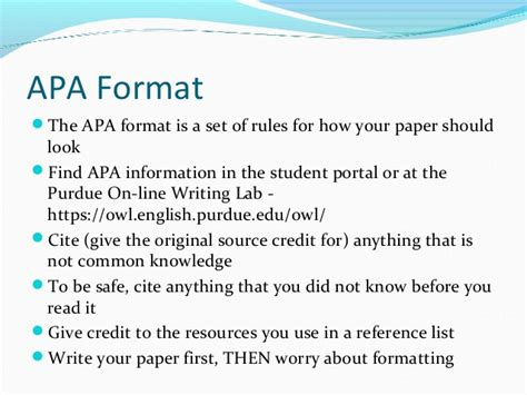 apa format common knowledge apa basics