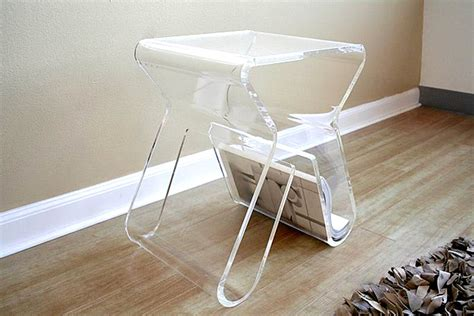 clear perspex side lucite accent table www pixshark com images galleries
