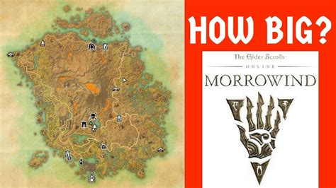 how big is a how big is the map in elder scrolls online morrowind run across the map youtube