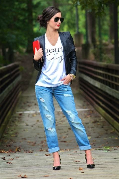 jean outfits on pinterest pinterest boyfriend jeans outfit blazer graphic tee