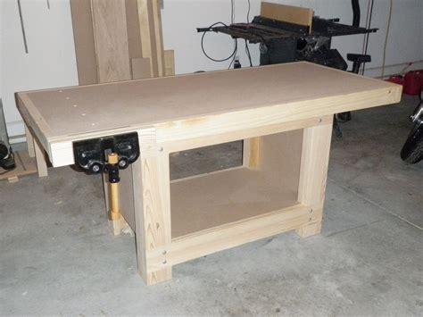wood weekend workbench  plans