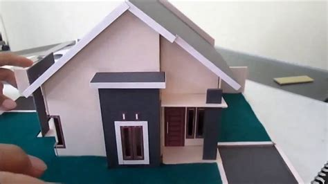 membuat rumah kardus sederhana cara membuat miniatur rumah sederhana type 45 youtube