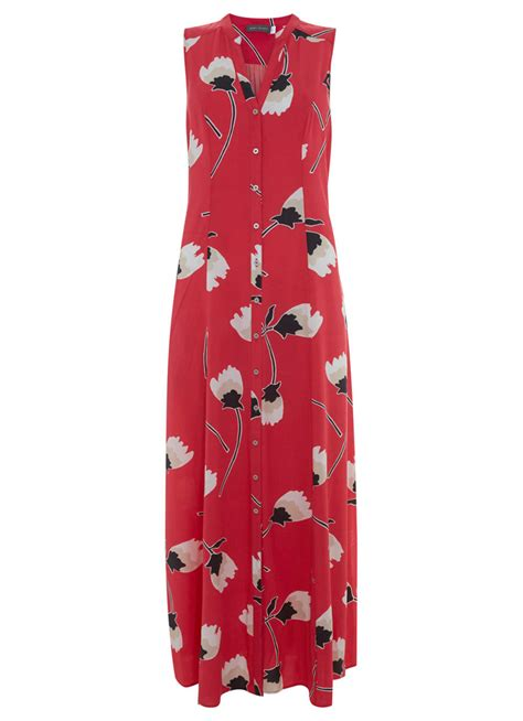 Dress Lusia Maxy lucia print maxi shirt dress