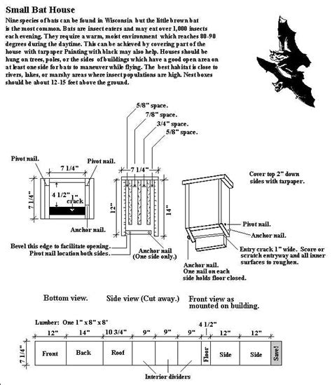 bat house plans pdf diy bat house plans