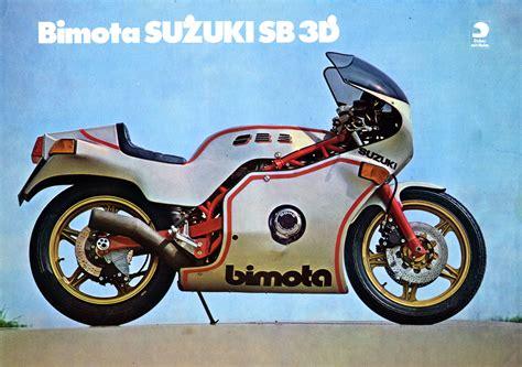 Ktm Motorrad Prospekt by Prospekt Suzuki Sb3 Suzuki Bimota 1979 Mit Gs1000