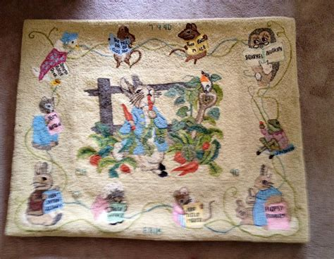 world of rugs gilbert quot rabbit and friends quot rug designed and hooked by marjorie gilbert rug hooking