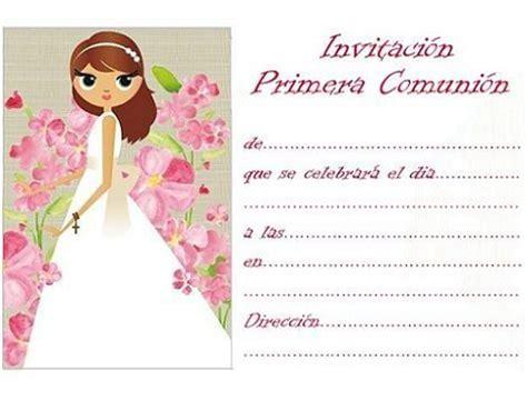 invitacion de primera comunion dibujo nuevas invitaciones de comuni 243 n para imprimir gratis