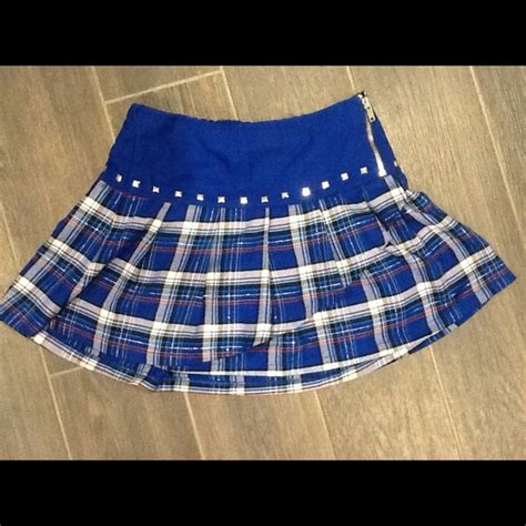 justice justice blue plaid mini skirt from samaire s
