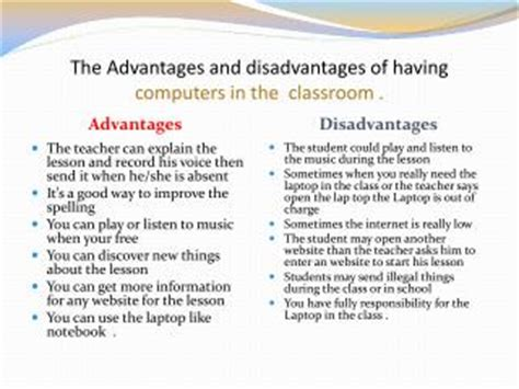 Advantages and disadvantages of computer technology essays