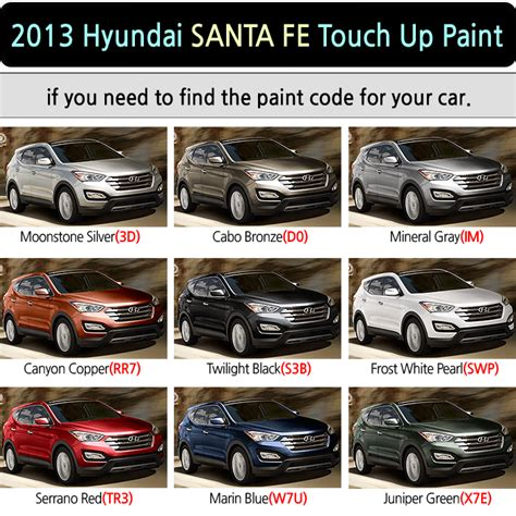 magictip hyundai santa fe touch up paint pen 3d d0 im rr7 s3b s3b swp tr3 w7u x7