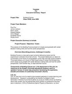 executive summary project status report template best photos of executive project summary report project